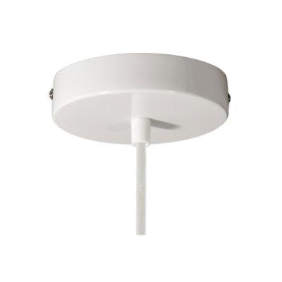 Stropný držiak pre 1 svietidlo, 12cm, kov, biela farba (1)