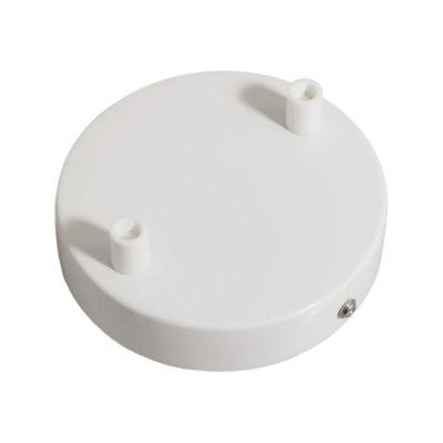 Stropný držiak pre 2 svietidlá, 12cm, kov, biela farba (3)