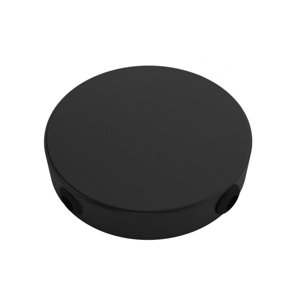 Stropný držiak so 4 bočnými otvormi, 12cm, kov, čierna farba (1)
