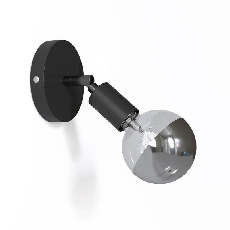Kovová prispôsobiteľná lampa na stenu alebo strop, čierna farba (1)