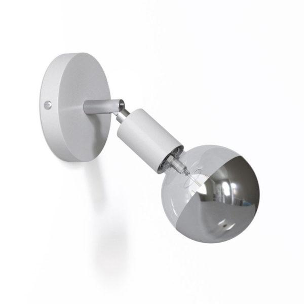 Kovová prispôsobiteľná lampa na stenu alebo strop, biela farba (1)