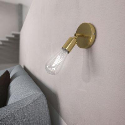 Kovová prispôsobiteľná lampa na stenu alebo strop, mosádzna farba (1)