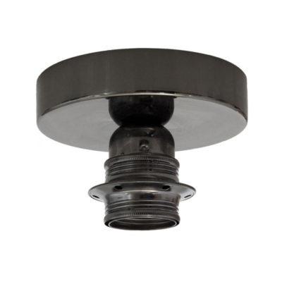 Kovové svietidlo na stenu alebo strop, možnosť pripojenia tienidla, perleťovo čierna (2)