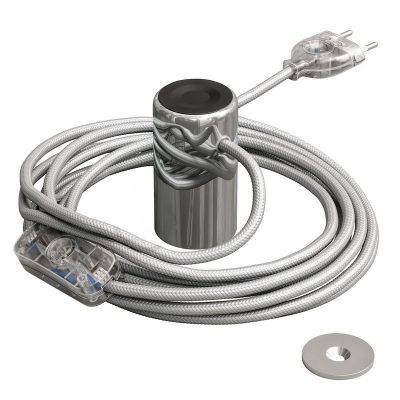 Magnetické svietidlo Magnetico®-Plug, chromová farba