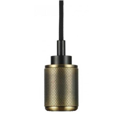 Závesné kovové svietidlo s držiakom pre zavesenie kábla, bronzová farba (3)