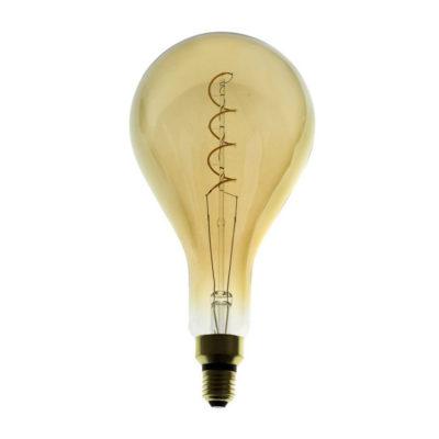 Edison Soft žiarovka, Jantárová LED žiarovka - XXL - 5W, E27, Stmievateľná, 2000K (1)