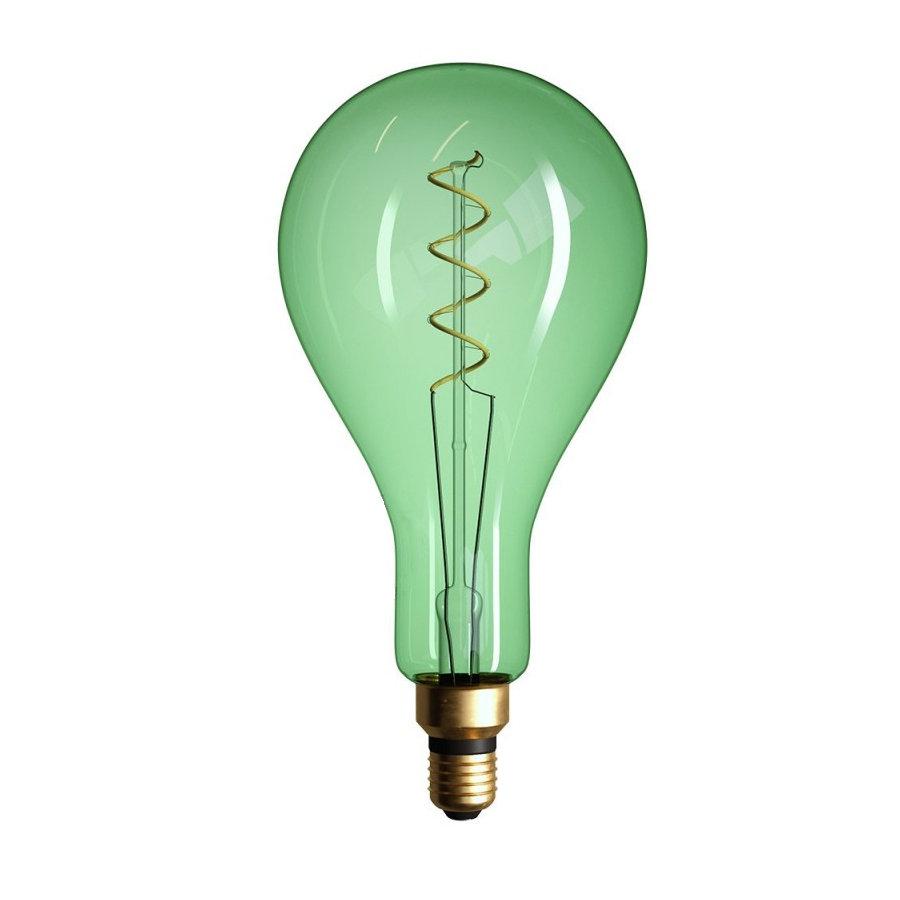 Edison Soft žiarovka, Smaragdová LED žiarovka - XXL - 5W, E27, Stmievateľná, 2000K (1)