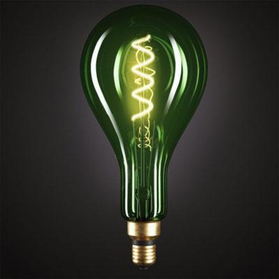 Edison Soft žiarovka, Smaragdová LED žiarovka - XXL - 5W, E27, Stmievateľná, 2000K (2)