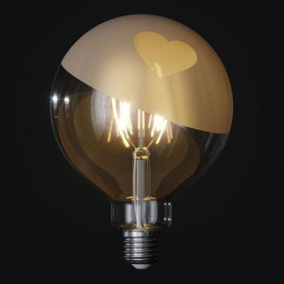LED žiarovka Filament - Tattoo Lamp® Cuore, 4W, E27, 420lm (1)