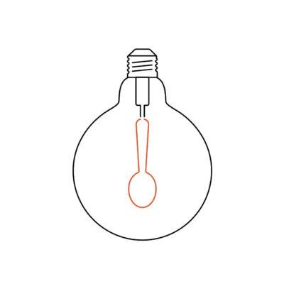 MASTERCHEF kuchynská žiarovka SPOON, Teplá biela, 4W, 130lm (1)
