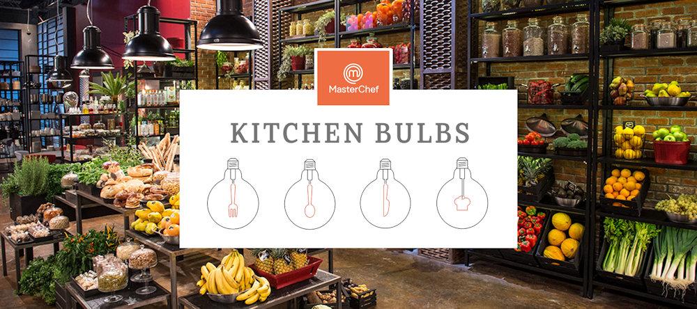 Táto jedinečná limitovaná kolekcia MasterChef žiaroviek je vhodná pre dekoráciu Vašej kuchyne.