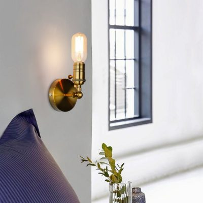 Retro-Sconce-Wall-Lamps-Vintage-Loft-Lights-E27-Bulb-Golden-Iron-Retro-Industrial-Home-deco-Lighting