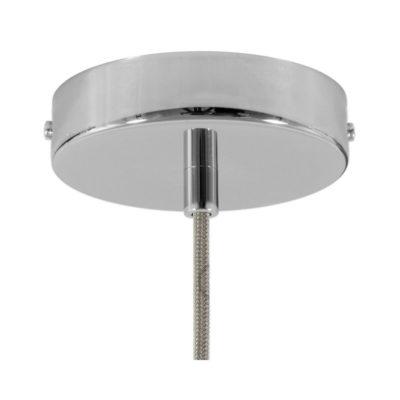 Stropný držiak pre 1 svietidlo, 12cm, kov, chrómová farba (1)