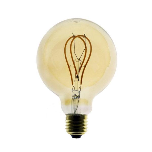 Edison Soft žiarovka, Jantárová LED žiarovka - GLOBUS - 5W, E27, Stmievateľná, 2000K (1)Edison Soft žiarovka, Jantárová LED žiarovka - GLOBUS - 5W, E27, Stmievateľná, 2000K (1)