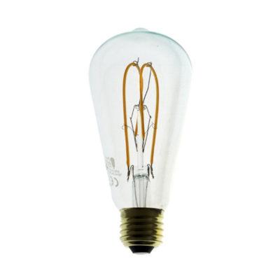 Edison Soft žiarovka, LED žiarovka - TEARDROP - 5W, E27, Stmievateľná, 2200K