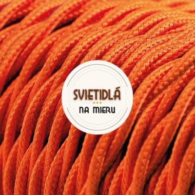 Kábel dvojžilový skrútený v podobe textilnej šnúry v pomarančovej farbe (2)