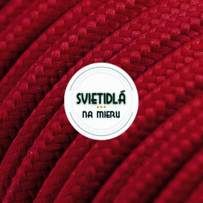 Kábel dvojžilový v podobe textilnej šnúry v tmavo červenej farbe, 2 x 0.75mm, 1 meter (2)