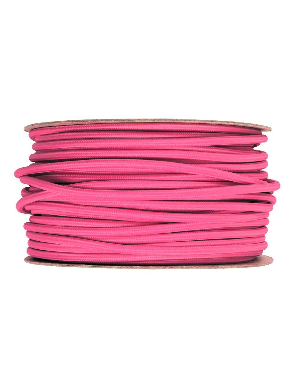 Kábel dvojžilový v podobe textilnej šnúry v tmavo ružovej farbe, 2 x 0.75mm, 1 meter (1)