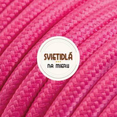 Kábel dvojžilový v podobe textilnej šnúry v tmavo ružovej farbe, 2 x 0.75mm, 1 meter (2)