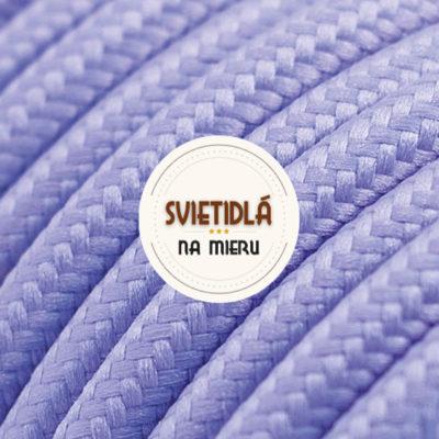 Kábel dvojžilový v podobe textilnej šnúry vo svetlo fialovej farbe, 2 x 0.75mm, 1 meter (2)