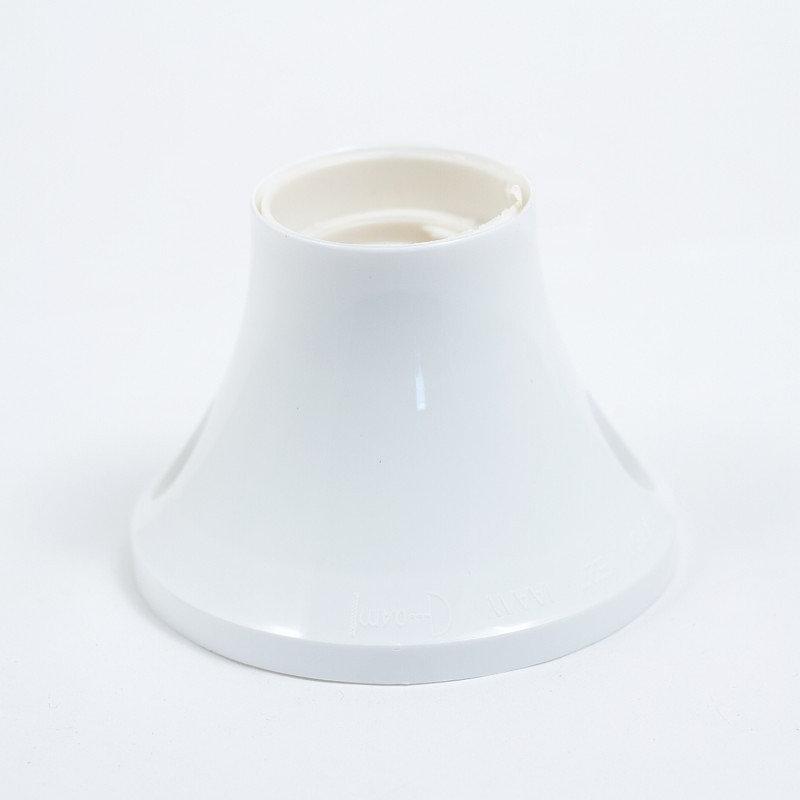 Stropná a nástenná objímka z termoplastu, E27, biela farba (1)