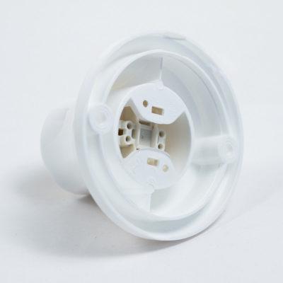 Stropná a nástenná objímka z termoplastu, E27, biela farba (2)