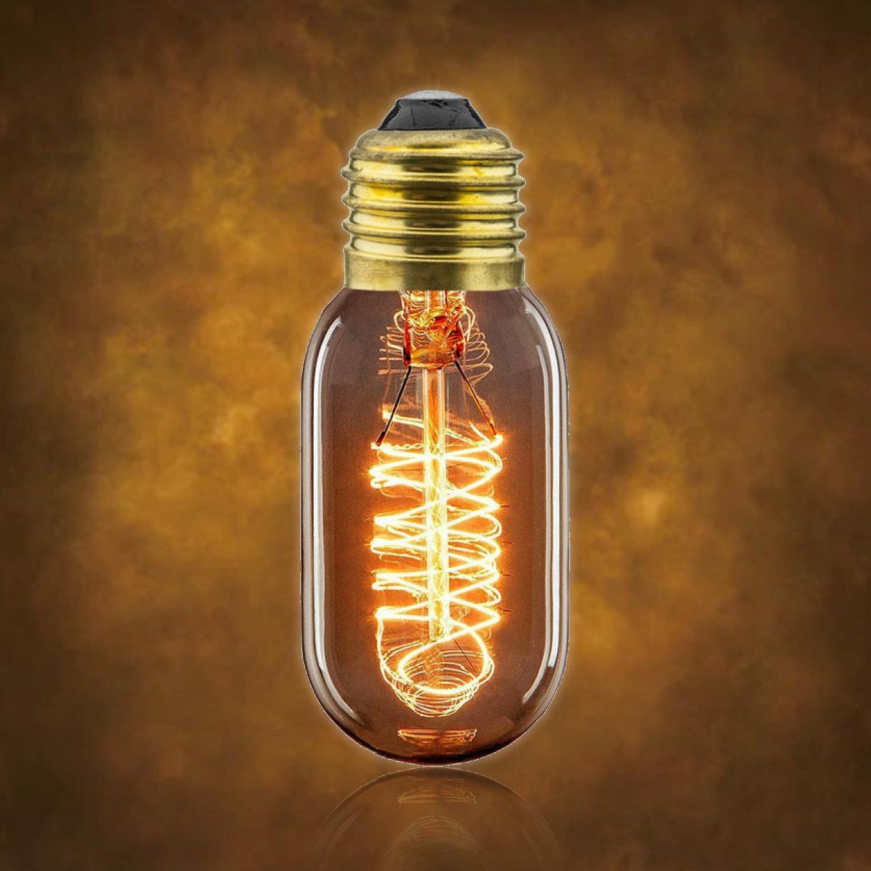 Vintage dekoračná žiarovka. S ručne fúkaným štýlom banky a teplou jantárovou žiarou, vyžaruje táto žiarovka šarm ako žiadna iná žiarovka (2)