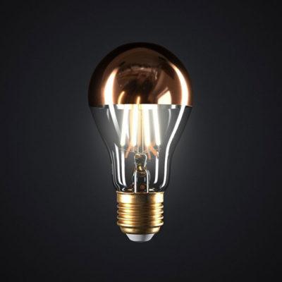Zrkadlová dekoračná žiarovka 7W, E27, 806lm, CLASSIC, Medená, Stmievateľná (2)