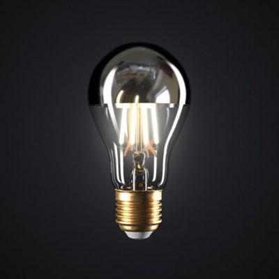 Zrkadlová dekoračná žiarovka 7W, E27, 806lm, CLASSIC, Strieborná, Stmievateľná (3)