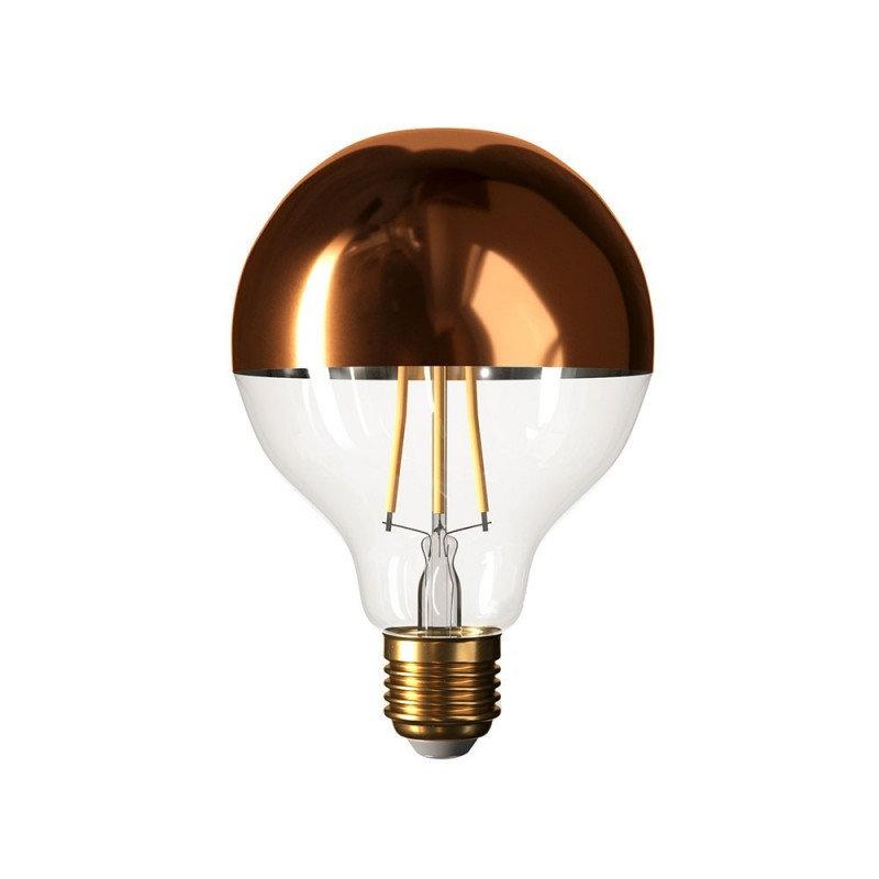 Zrkadlová dekoračná žiarovka 7W, E27, 806lm, GLOBUS, Medená, Stmievateľná (1)