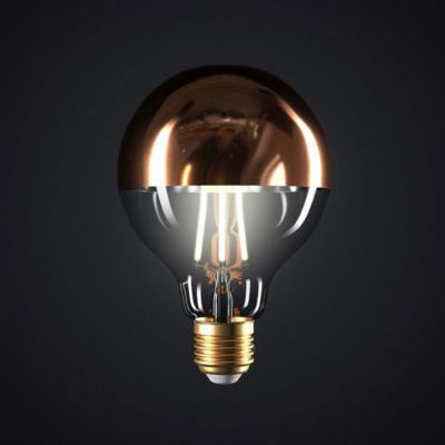 Zrkadlová dekoračná žiarovka 7W, E27, 806lm, GLOBUS, Medená, Stmievateľná (2)