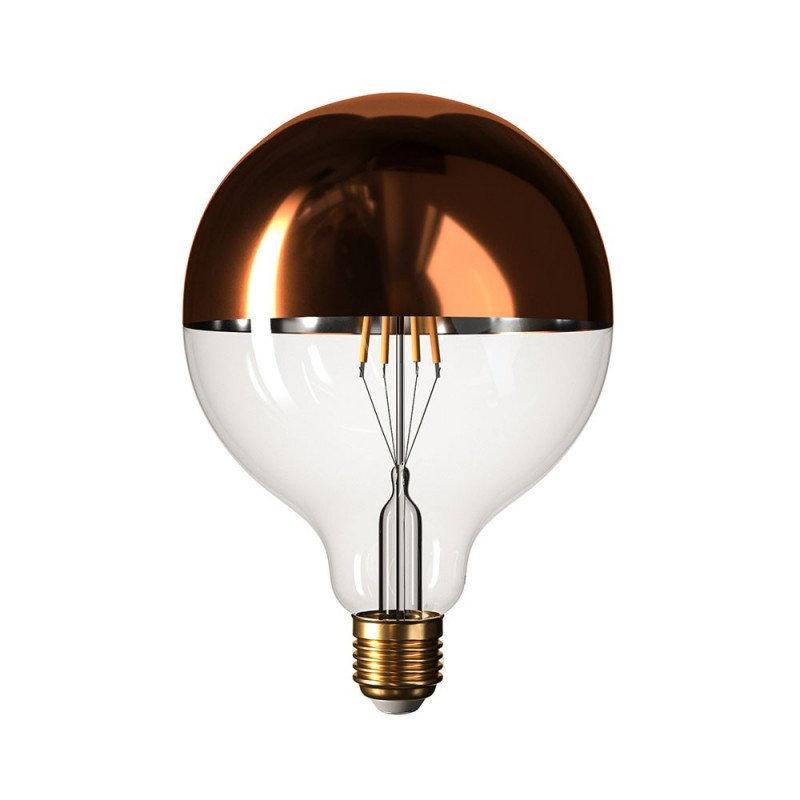 Zrkadlová dekoračná žiarovka 7W, E27, 806lm, SPHERE, Medená, Stmievateľná (1)