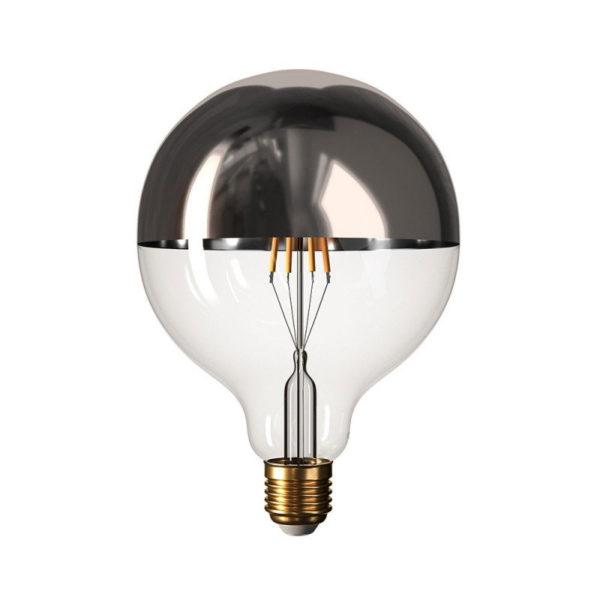 Zrkadlová dekoračná žiarovka 7W, E27, 806lm, SPHERE, Strieborná, Stmievateľná (1)