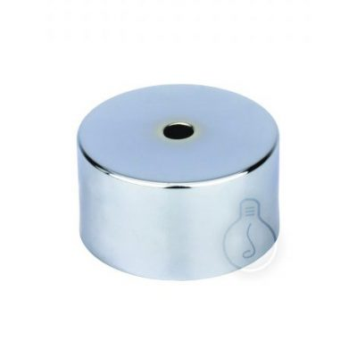 Kovová stropná rozeta MINI, chrómová farba vyrobená z kovového