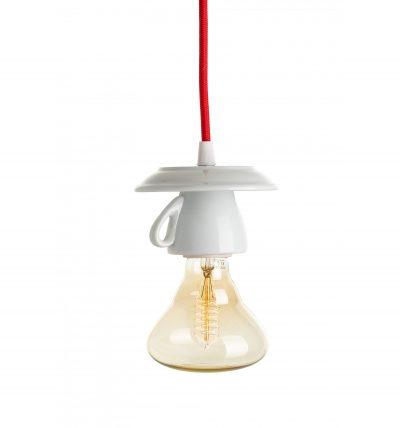 Porcelánové dizajnové svietidlo v tvare šálky
