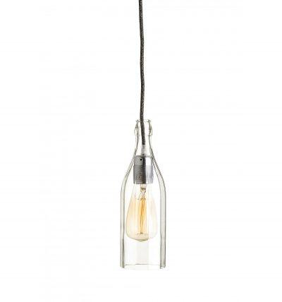 Stropné svietidlo Fľaša v striebornej kombinácií (1)