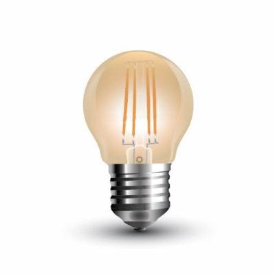 FILAMENT žiarovka - Mini - E27, 4W, 350lm, Teplá biela