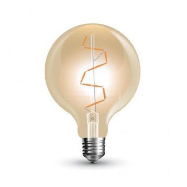 FILAMENT žiarovka - Zig Zag Globus - E27, 4W, 400lm, Teplá biela