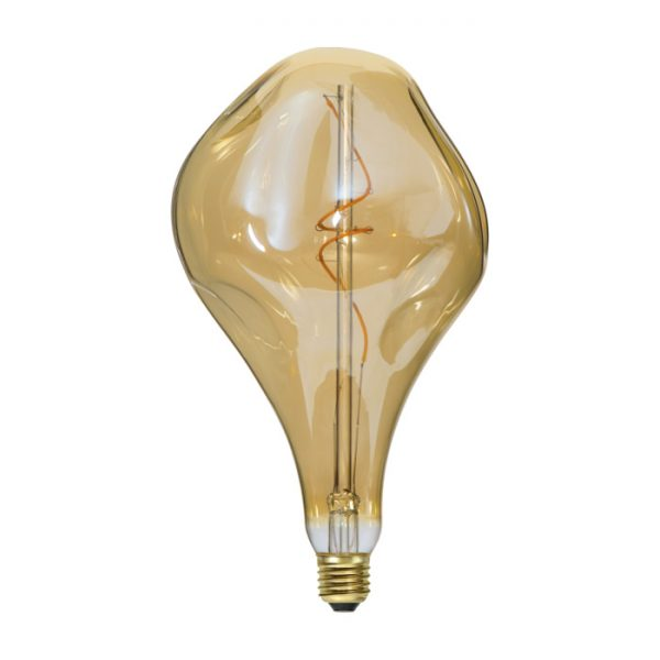 Vintage Filament žiarovka ELEGANCE, zlatá - 5W, E27, 250lm, Stmievateľná, Teplá biela'