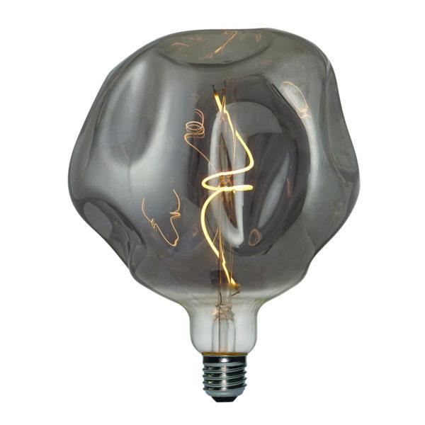 Vintage Filament žiarovka LUXURY, dymová – 5W, E27, 150lm, Stmievateľná, Teplá biela   Daylight Italia
