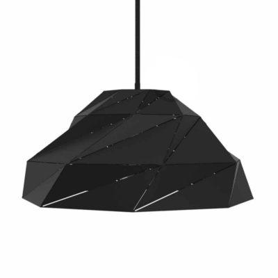 Čierne matné kreatívne tienidlo s E27 objímkou