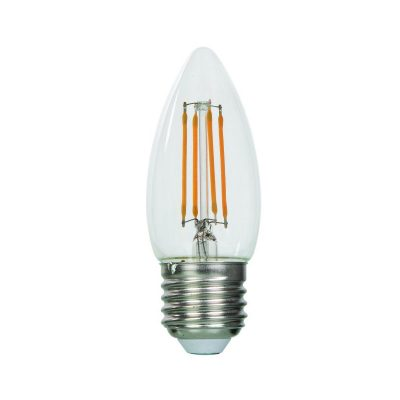 FILAMENT žiarovka - NEW CANDLE - E27, 4W, 470lm