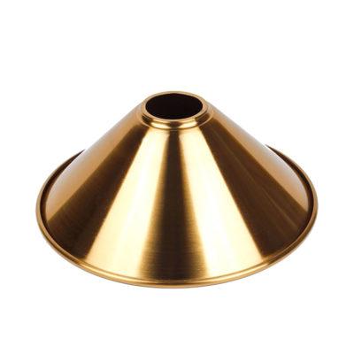Hlboké kovové tienidlo v matnej zlatej farbe, priemer 22cm