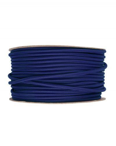 Kábel dvojžilový v podobe textilnej šnúry v tmavo modrej farbe, 2 x 0.75mm, 1 meter