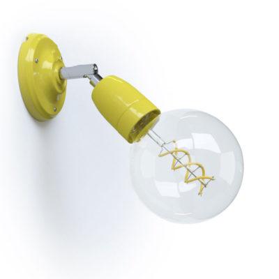 Porcelánové nástenné a stropné svietidlo s nastaviteľným sklonom v žltej farbe