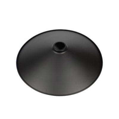 Retro kovové tienidlo v matnej čiernej farbe, priemer 36cm