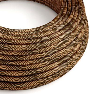 Textilný kábel Optical Vertigo - čierna:medená, 2 x 0.75mm, 1 meter