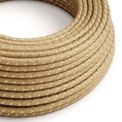Textilný kábel Vertigo - juta+medené vlákno, 2 x 0.75mm, 1 meter