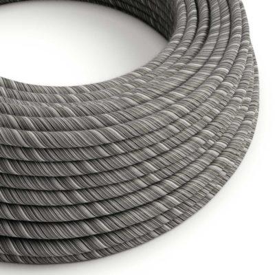 Textilný kábel, bavlna, Vertigo - čierna/mélange, 2 x 0.75mm, 1 meter