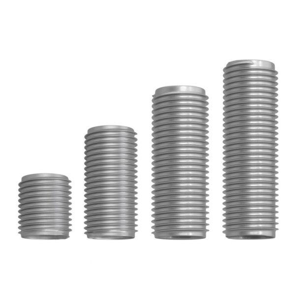 Závitové rúrky v dĺžkach 10mm, 15mm, 20mm, 25mm